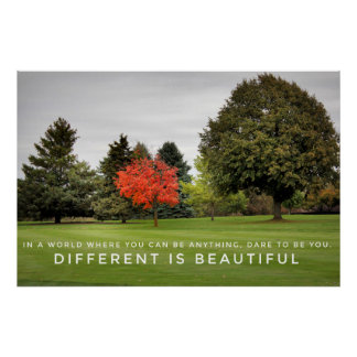 Different is Beautiful Poster