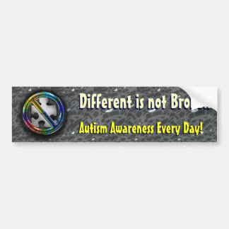 Different is not Broken Slogan Template Bumper Sticker
