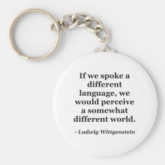 Different language different world Quote Keychain