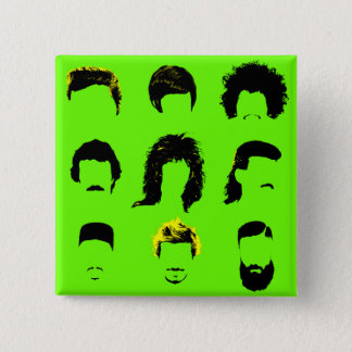 Different Men's Hairstyles 2 Inch Square Button