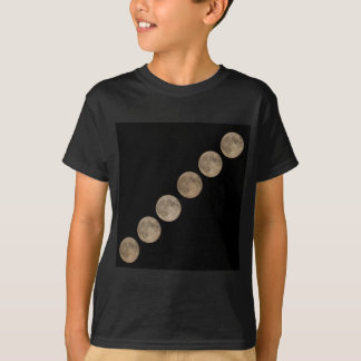 Different phases of rising full moon T-Shirt