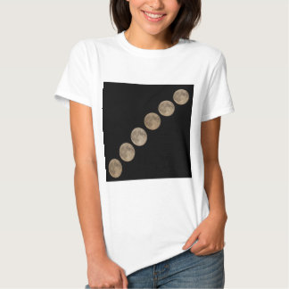 Different phases of rising full moon t-shirts