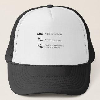 Different Quiets, Funny T-Shirt for Men&Women Trucker Hat