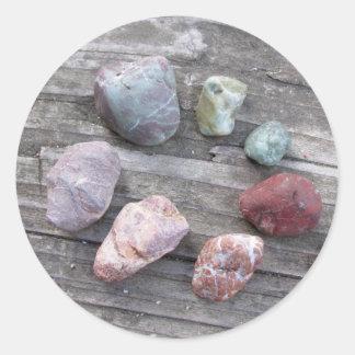 Different Rocks Circle Sticker