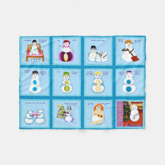 Different Strokes For Different Snow Folks squares Fleece Blanket