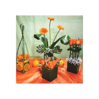differente stiles of flowers canvan canvas print