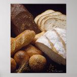 Différents types de pain d'artisan affiche