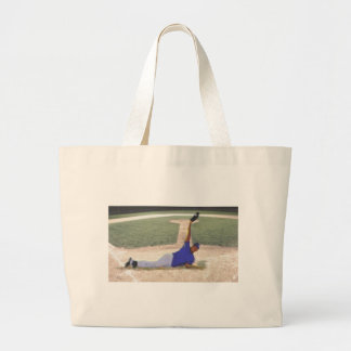 Difficult Baseball Catch Art Large Tote Bag