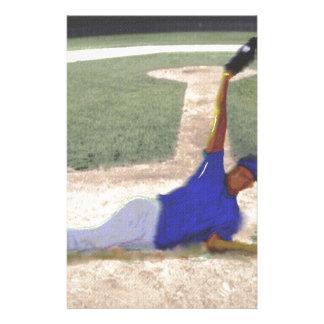 Difficult Baseball Catch Art Stationery