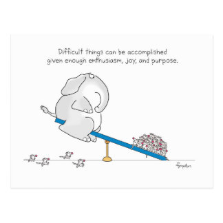 DIFFICULT THINGS POSTCARD