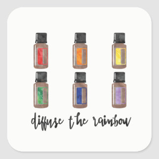 Diffuse the Rainbow Sticker - Essential Oils