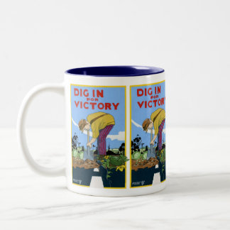 Dig In For Victory Two-Tone Coffee Mug