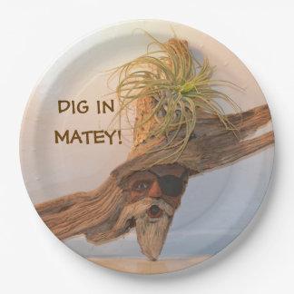 Dig In Matey Pirate Paper Plate