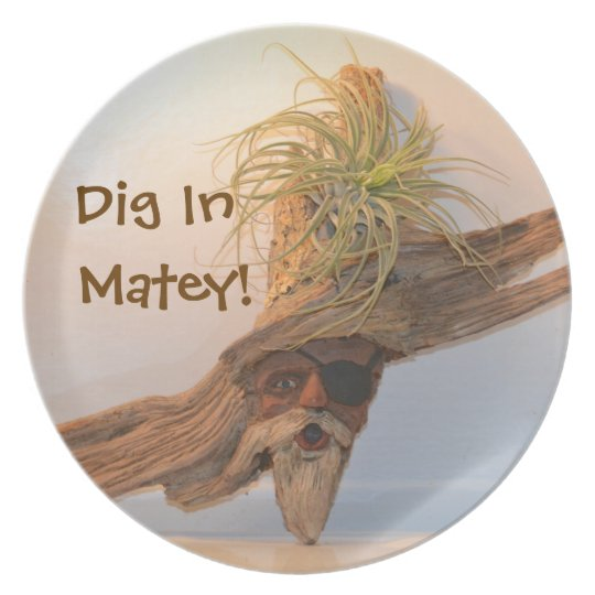 Dig In Matey Pirate Plate