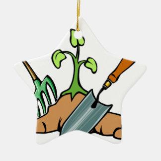 Dig it, life is a Garden Ceramic Ornament