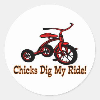 Dig My Ride Round Sticker