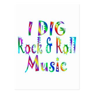 Dig Rock & Roll Postcard