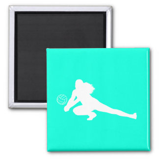 Dig Silhouette Magnet Turquoise