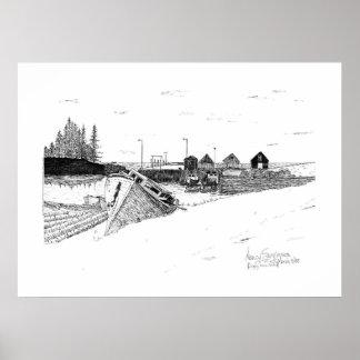 Digby, Nova Scotia Fishing Boats Pen & Ink Posters