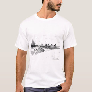 Digby, Nova Scotia Fishing Boats Pen & Ink T-Shirt