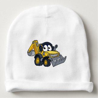 Digger Bulldozer Cartoon Character Baby Beanie