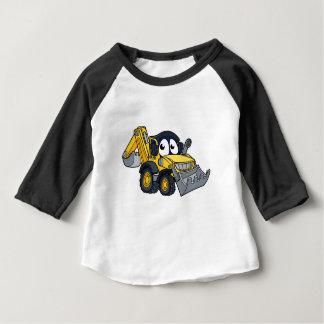 Digger Bulldozer Cartoon Character Baby T-Shirt