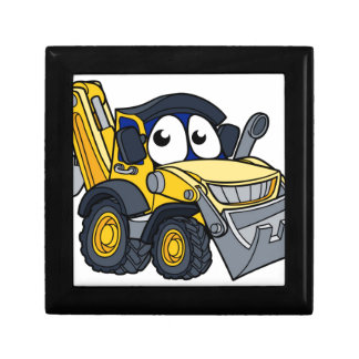 Digger Bulldozer Cartoon Character Gift Box