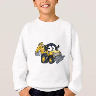 Digger Bulldozer Cartoon Character Sweatshirt