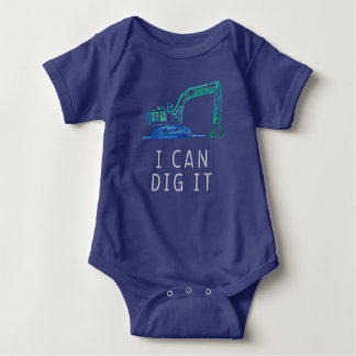 Digger Truck I Can Dig It Excavator Bodysuit