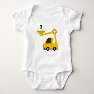 Digger Vest Age 2 Baby Bodysuit