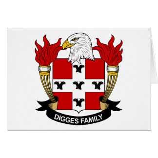 Digges Family Crest Card