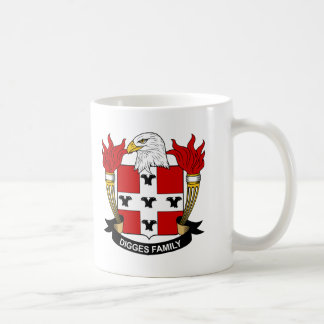 Digges Family Crest Classic White Coffee Mug