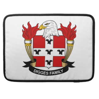 Digges Family Crest MacBook Pro Sleeves