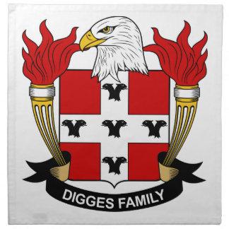 Digges Family Crest Napkins