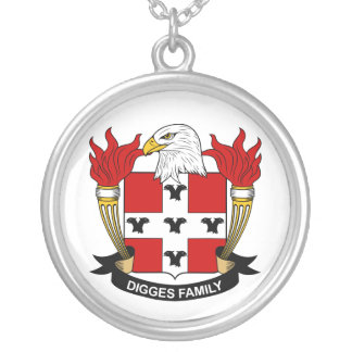 Digges Family Crest Personalized Necklace