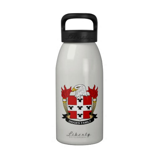 Digges Family Crest Drinking Bottles