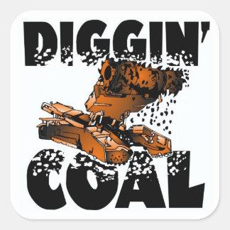 DIGGIN' COAL SQUARE STICKER