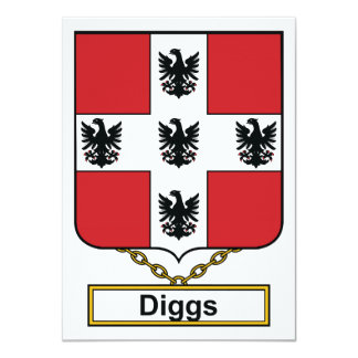 "Diggs Family Crest 4.5"" X 6.25"" Invitation Card"