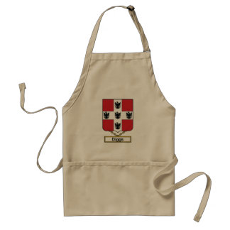 Diggs Family Crest Adult Apron