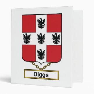 Diggs Family Crest Vinyl Binder