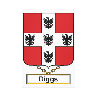 Diggs Family Crest Stretched Canvas Print