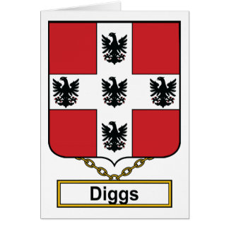 Diggs Family Crest Greeting Card
