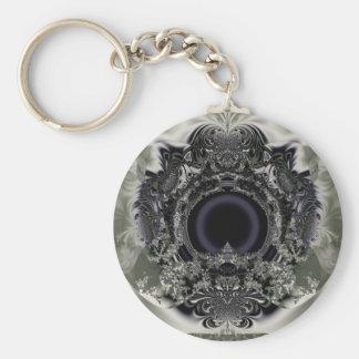 Digi arts basic round button keychain
