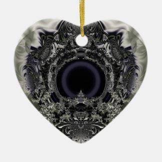 Digi arts ceramic heart ornament