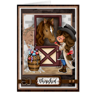Digi Doodles Cherished Horse Whisperer Card