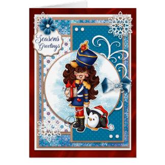 Digi Doodles Noelle Nutcracker Seasons Greetings Card