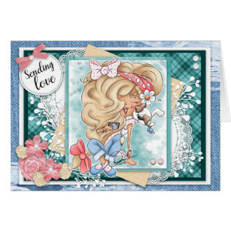 Digi Doodles Sending Love Greeting Card