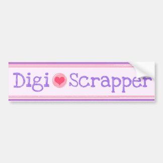 Digi-Scrapper Car Bumper Sticker