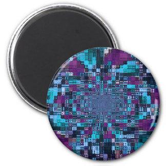 Digital Abstract Art Refrigerator Magnet