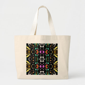Digital Abstract Art Multicolored Pattern Tote Bags